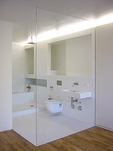 glaswand in de badkamer: evolutie inloopdouche. george gesman, Badkamer